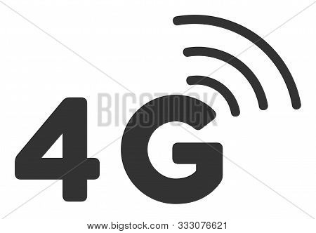 4g Raster Icon. Flat 4g Symbol Is Isolated On A White Background.