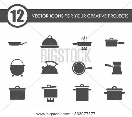 Dishes Vector Icons For Your Creative Ideas