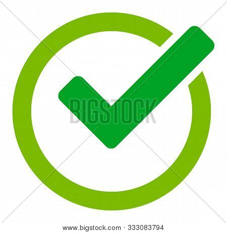 Validity Raster Icon. Flat Validity Symbol Is Isolated On A White Background.