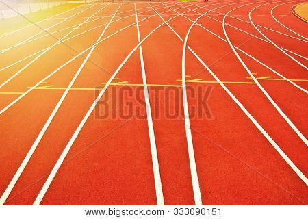 Athletics Track Pattern Background. Sport Conceptual Image.