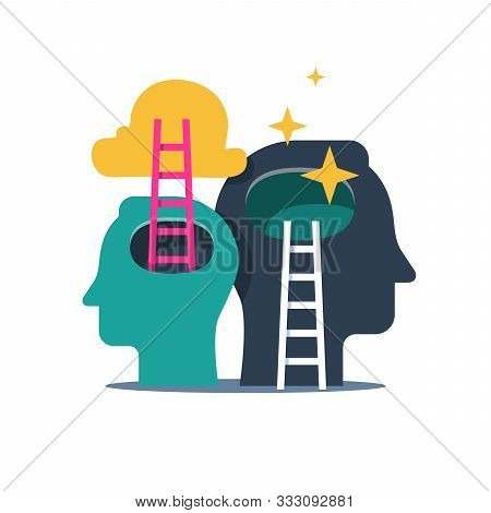 Human Head And Ladder, Next Level Improvement, Training And Mentoring, Pursuit Of Happiness, Self Es