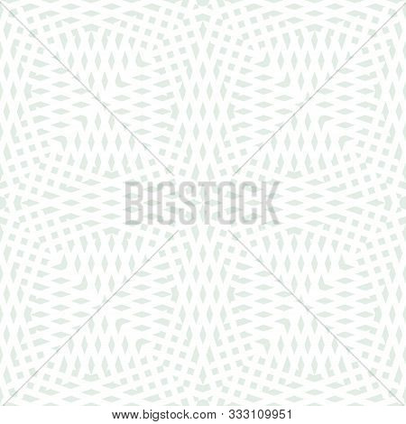 Abstract Geometric Seamless Pattern. Wicker Texture. Simple Vector Background With Small Shapes, Cro
