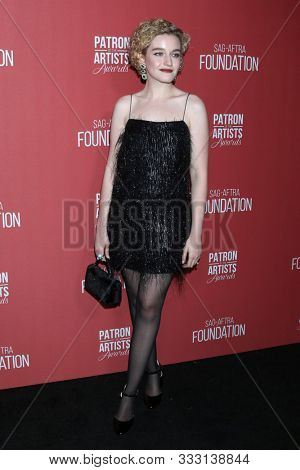 LOS ANGELES - NOV 7:  Julia Garner at the 4th Annual Patron of the Artists Awards, at Wallis Annenberg Center for the Performing Arts on November 7, 2019 in Beverly Hills, CA