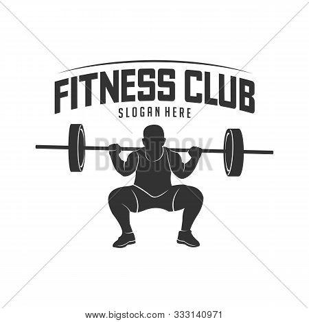Fitness Vector Logo Design Template,design For Gym And Fitness Vector. Fitness Club Logo With Exerci