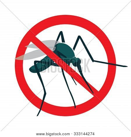 No Mosquito Sign.stop Mosquito Sign Isolated On White Background.no Mosquito Icon