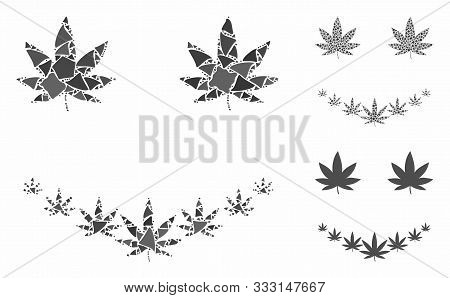 Marihuana Smile Composition Of Tuberous Elements In Variable Sizes And Shades, Based On Marihuana Sm