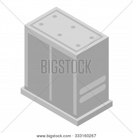 Stainless Elevator Icon. Isometric Of Stainless Elevator Vector Icon For Web Design Isolated On Whit