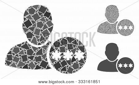 User Hidden Password Mosaic Of Irregular Pieces In Different Sizes And Color Tints, Based On User Hi