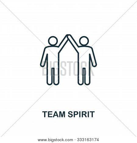 Team Spirit Icon Outline Style. Thin Line Creative Team Spirit Icon For Logo, Graphic Design And Mor
