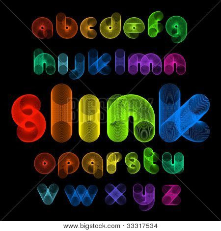 Vector Alphabet Shaped Slinks