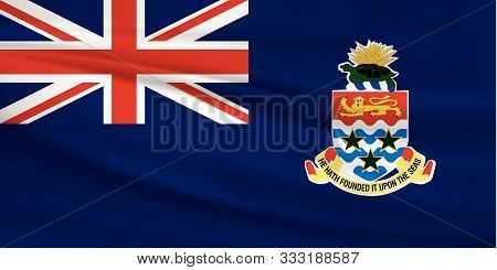 Illustration Of A Waving Flag Of The Cayman Islands