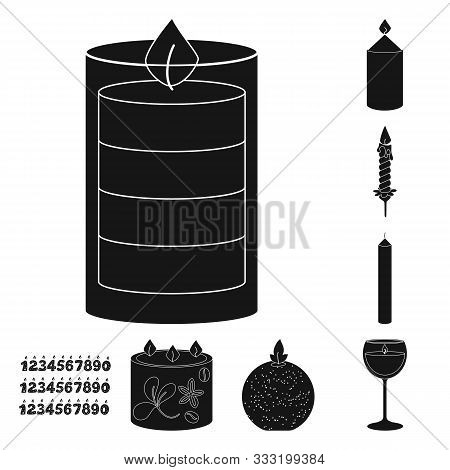 Isolated Object Of Candlelight And Decoration Logo. Set Of Candlelight And Wax Stock Vector Illustra