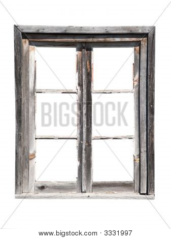 Old Wooden Barn Window