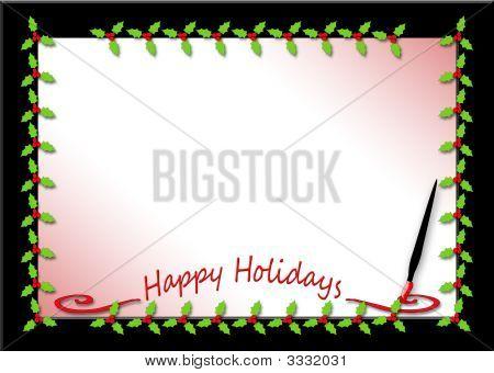 Happy Holidays Holly Border