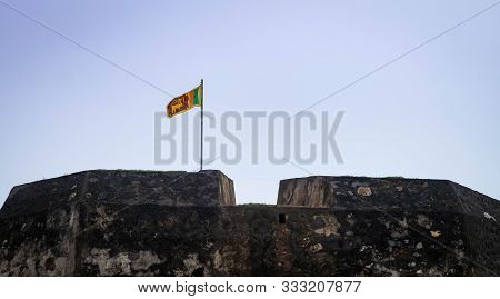 Galle, Sri Lanka - August 10, 2016:  The Best City Of South Of Sri Lanka, The Old Clock Tower And Th