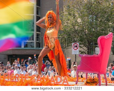 Montreal, Canada -16 Aug 2017- The Annual Fierte Montreal Parade Took Place On Boulevard Rene Levesq
