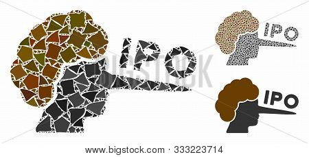 Ipo Lier Composition Of Irregular Pieces In Variable Sizes And Color Tones, Based On Ipo Lier Icon.