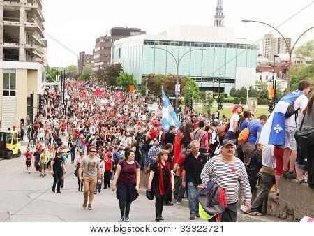 Demonstration At Montreal, Quebec