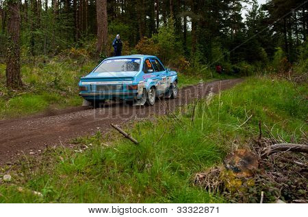 J. Coleman Driving Ford Escort