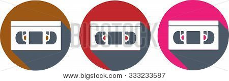 Video Tape Icon Isolated On Background  Videocassette, Videotape, Vintage, Web.