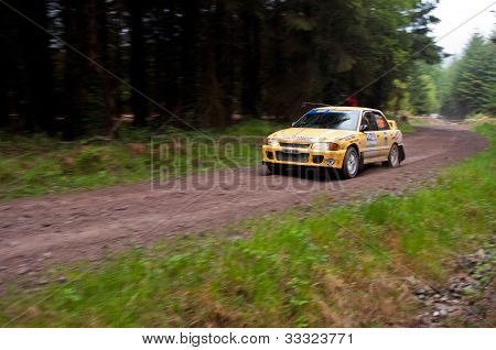 M. O' Connor Driving Mitsubishi Evo