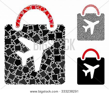 Duty Free Bag Composition Of Abrupt Elements In Different Sizes And Color Tones, Based On Duty Free