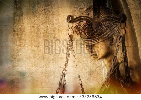 The Statue of Justice - lady justice the Roman goddess of Justice. Personal editing