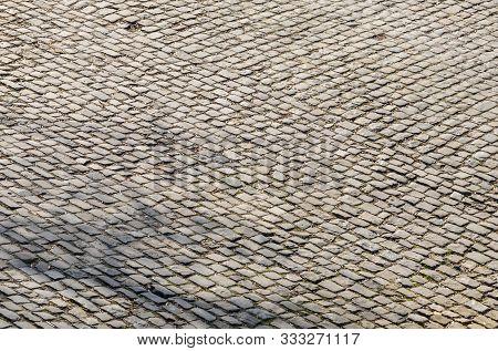 Detail Of A Famous Crossroad On The Cobblestone Road Muur Van Geraardsbergen Located In Belgium. On