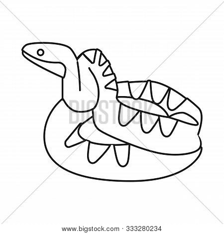 Isolated Object Of Python And Serpent Logo. Web Element Of Python And Crawling Vector Icon For Stock