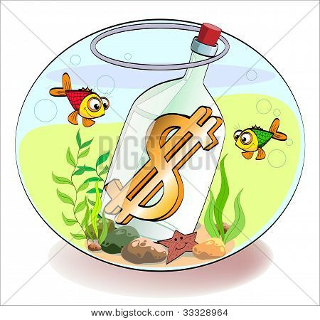 Dollar In A Bottle