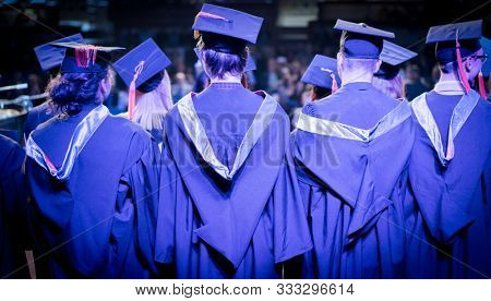 Graduation ceremony with proud students in Sarajevo Bosnia and Herzegovina 22/5/2019