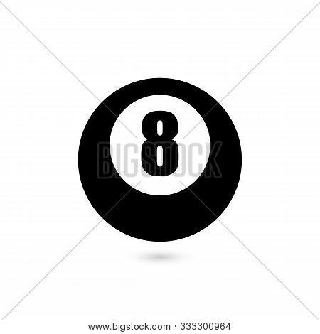 Vector Illustration Of 8 Ball. Billiards Or Fortune Teller.