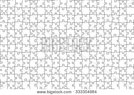 Seamless Jigsaw Puzzle Game Pattern. Illustration Vector Background.