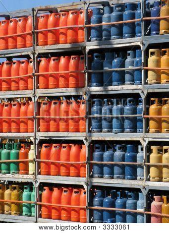 Stack Of Gas Bottles