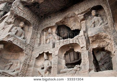 Carved Buddhas At The Yungang Caves, Datong