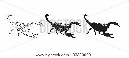 Vector Of Scorpions Isolated On White Background. Insect. Animal. Scorpions Logo Or Icon. Easy Edita