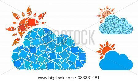 Cloudy Weather Mosaic Of Trembly Parts In Different Sizes And Color Tones, Based On Cloudy Weather I