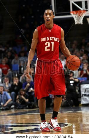 Ohio State's Evan Turner dribbles