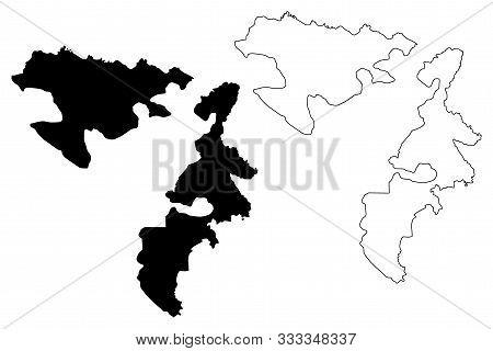 Republika Srpska (bosnia And Herzegovina, Bih, Bosnia-herzegovina) Map Vector Illustration, Scribble