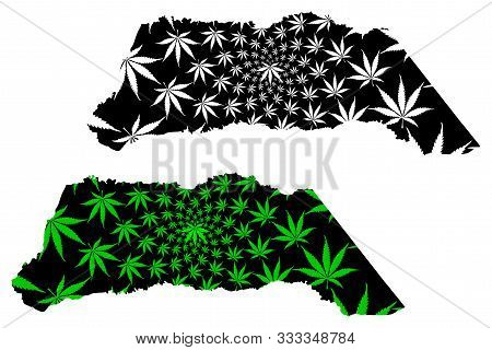 Arauca Department (colombia, Republic Of Colombia, Departments Of Colombia) Map Is Designed Cannabis