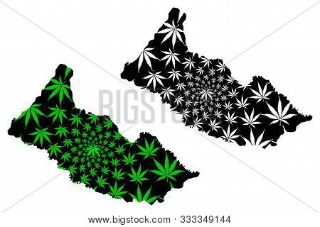 Caqueta Department (colombia, Republic Of Colombia, Departments Of Colombia) Map Is Designed Cannabi