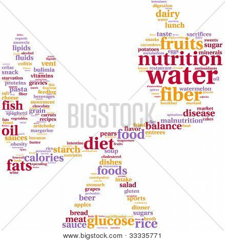 food balance tagcloud illustration