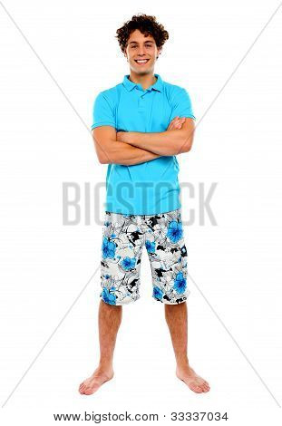 Teenage Guy Posing In Casuals