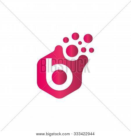 B Dots Logo Design Template. Hexagon B Icon. B Letter Logo. Dots B Logo. B App Icon. B Logo.
