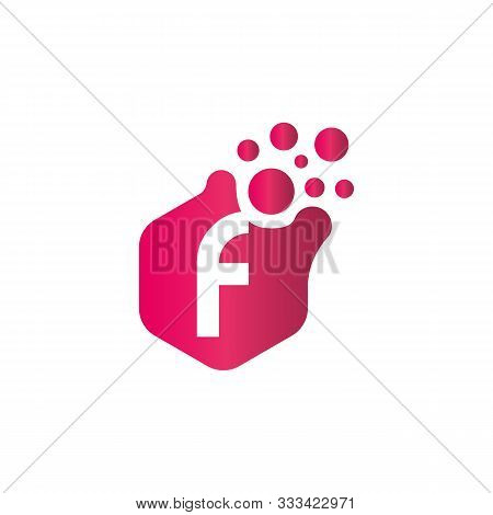 F Dots Logo Design Template. Hexagon F Icon. F Letter Logo Vector. Letter F Logo. F Dots Icon. F Dot