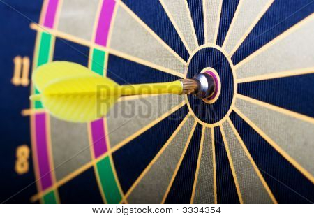 Magnetic Dart Board With A Dart