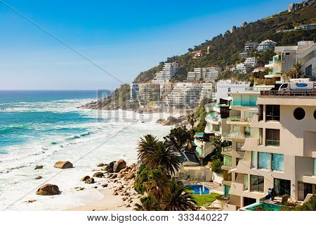 View Of Clifton Beach And  Appartments In Cape Town South Afric