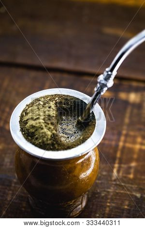 A Typical Brazilian Drink, O Chimarrão, Or Mate, Is A Characteristic Drink Of Southern South America