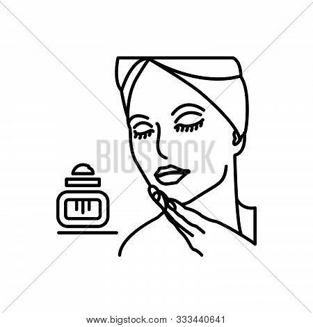 Black Line Icon For Beauty Fineness Loveliness Gratefulness Beautiful