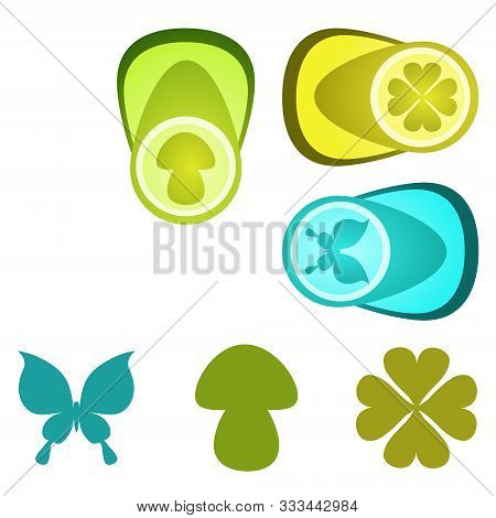 Several Kinds Of Figured Punchers. Vector Illustrations.